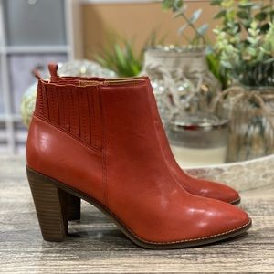 🆕 Lucky Brand Nesley Leather Bootie Ankle Boot